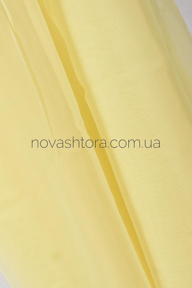 желтый тюль шифон